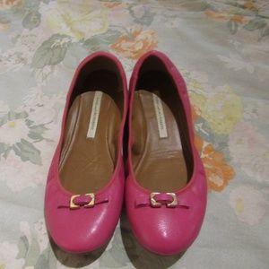 Diane VonFurstenberg Pink Ballet Flats ~7.5 M